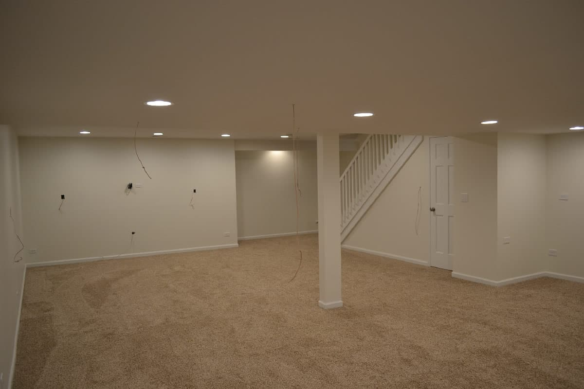 Canned Ceiling Lights Basement Stairs: Total Basement Transformation In Naperville, IL
